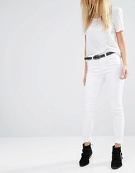 Noisy May Extreme Lucy Biker Jeans White