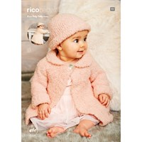 Rico Baby Teddy Aran Children's Coat And Accessories Knitting Pattern 461