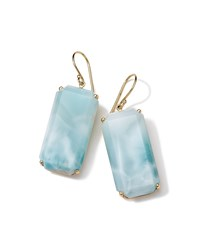 Ippolita Rock Candy Gelato 18K Larimar Drop Earrings Women's