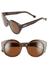Women's Jonathan Adler 'Monte Carlo' 52Mm Cat Eye Sunglasses Brown