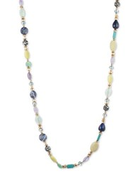 Lonna And Lilly Semiprecious Stone Goldplated Strand Necklace Blue