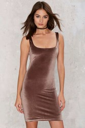 Glamorous Magic Touch Velvet Dress Brown