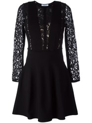 Blumarine Lace Panel Dress Black