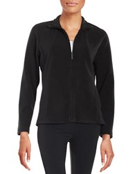 Rafaella Petites Petite Fleece Zip Up Jacket Black