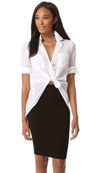 Enza Costa Hi Lo Shirt White