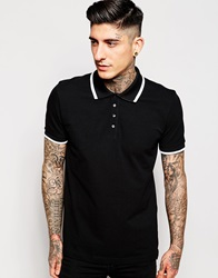 Pretty Green Polo Shirt With Single Tip Black