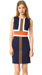 Diane Von Furstenberg Hazeline Dress Midnight Orange Canvas Khaki