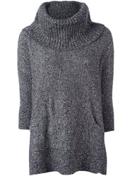Michael Michael Kors Oversized Marled Jumper Grey