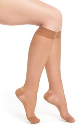 Women's Item M6 Sheer Compression Knee High Socks Bronze