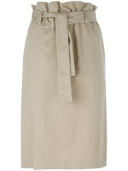 Emilio Pucci Belted Skirt Nude And Neutrals