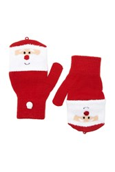 Forever 21 Santa Convertible Gloves Red White
