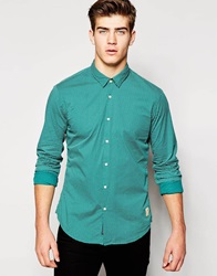 Scotch And Soda Shirt With Polka Dot Print Green