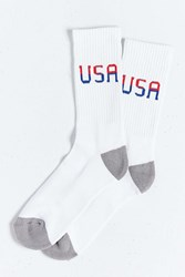 Urban Outfitters New Usa Sock Red