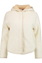 Marc By Marc Jacobs Quilted Cotton Blend Hooded Jacket White