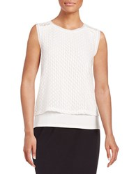 T Tahari Elm Knit Tank Top Antique