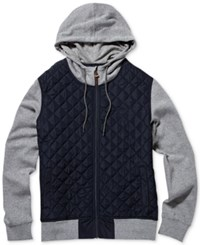 Element Men's Tadler Colorblocked Quilted Hoodie Eclipse