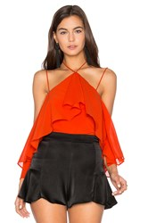 Backstage Isabella Top Orange