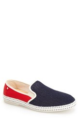 Men's Rivieras 'France' Slip On Blue Dark Red