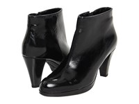 La Canadienne Megan Black Crinkle Patent Women's Dress Boots