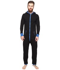 Original Penguin Waffle Hoodie One Piece True Black Classic Blue Men's Jumpsuit And Rompers One Piece