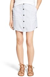 Women's Hinge Button Front Linen Blend Miniskirt