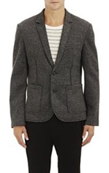 Atm Anthony Thomas Melillo Neoprene Two Button Sportcoat Black