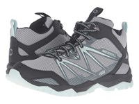 Merrell Capra Rise Mid Waterproof Monument Women's Lace Up Casual Shoes Gray