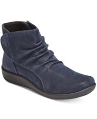 Clarks Collection Women's Cloud Steppers Sillian Chell Booties Women's Shoes Navy