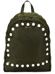 Muveil Faux Pearl Embellished Backpack Green