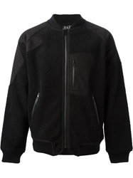 Pam Perks And Mini 'Fuzz Tech' Bomber Jacket Black