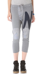 Freecity Giant Letter Digger Sweatpants Deep Heather
