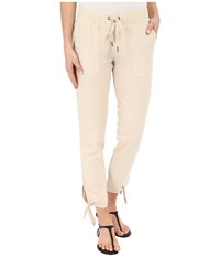 Mod O Doc Linen Rayon Ankle Tie Pull On Pants Beach Grass Women's Casual Pants Beige