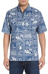Reyn Spooner Men's '60Th Anniversary Diamond' Classic Fit Print Short Sleeve Sport Shirt
