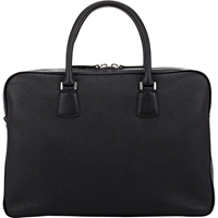 Barneys New York Top Zip Briefcase Black
