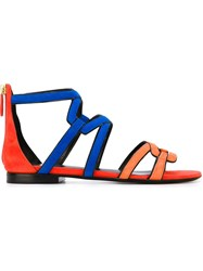 Pierre Hardy Strappy Sandals Yellow And Orange