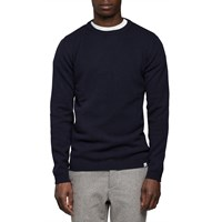 Norse Projects Navy Lambswool Sweater Blue