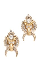 Elizabeth Cole Jessica Earrings Golden Crystal