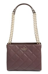 Kate Spade New York 'Emerson Place Mini Convertible Phoebe' Quilted Leather Shoulder Bag Brown Dark Mahogany