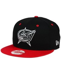 New Era Columbus Blue Jackets Black White Team Color 9Fifty Snapback Cap Black Red