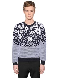 Dsquared Gradient Wool Blend Jacquard Sweater
