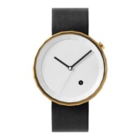 Chiandchi Black And Gold Polygon Watch Silver
