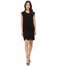 Heather Silk Layered Asymmetrical Dress Black Women's Dress