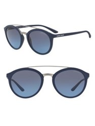 Giorgio Armani 52Mm Logo Round Sunglasses Blue