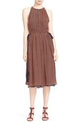 Apiece Apart Women's 'Lippard' Tassel Trim Silk Dress