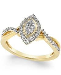 No Vendor Diamond Marquise Promise Ring 1 4 Ct. T.W. In 10K Gold