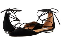 Steve Madden Sunshine Black Suede Women's Flat Shoes