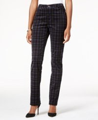 Charter Club Plaid Printed Lexington Corduroy Straight Leg Pant Only At Macy's Deep Black Combo