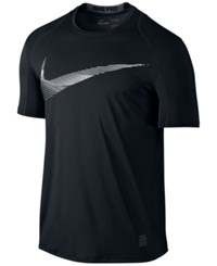Nike Men's Pro Cool Fitted Logo T Shirt Black