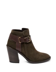 Aquatalia By Marvin K Leather Ankle Booties Herb