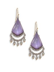 Alexis Bittar Crystal Lace Lucite Chandelier Earrings
